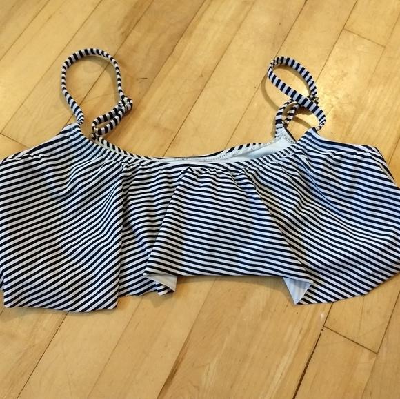 Xhilaration Other - Navy/Black and White striped bikini top